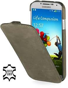 StilGut UltraSlim Case, Tasche aus Leder für Samsung Galaxy S4 i9500 & i9505, Old Style Lawn Green
