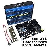 HermosaUKnight X58 Computer Mainboard LGA 1366 Pin ECC Alle Festplatinenunterstützung L / E5520 X5650-Multicolor