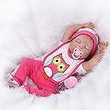 Colorful Spielpuppe Babypuppe 55cm Lebensechte Weiche Vinyl Real Life Neugeborenes Baby Puppe Silikon Puppe Lächeln Reborn Baby