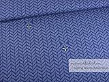 Mamasliebchen Sommer-Sweat-Stoff Trailing Leaves #Dark Blue (0,5m) Zopfmuster Zopf Meterware