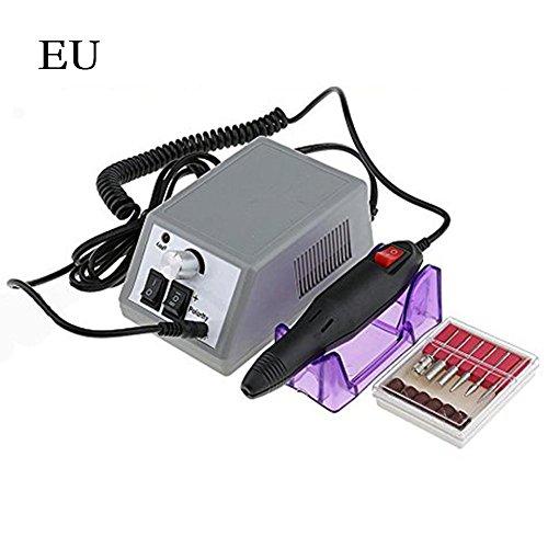 Elektrische Maniküre Pediküre Nagel Polierer Maschine Tragbare Wiederaufladbare Schnurlose Nagelpolierwerkzeuge Set, Geringe Hitze Lärm (Eu-stecker)