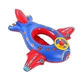 PVC-Cartoon Flugzeugsitz bei Säuglingen Kindern im Alter von 1-5 Verdickung mit Lenkrad Baby aufblasbares Wasserspielzeug spielen Ring schwimmen