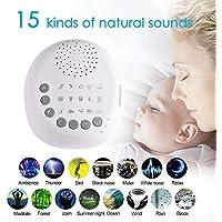 szseven Weiße Geräusch-Maschine, Sound Maschine zum Schlafen und Relaxen mit 15 beruhigenden natürlichen Geräuschen... preisvergleich bei billige-tabletten.eu