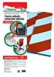 Antishock Mappy U07K0100140A0V5120 Paracolpi Garage Antishock, Bianco e Rosso