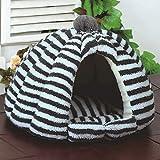 BTPDIAN Cucciolata per Gatti Quattro Stagioni Universale Cat Bed Chiuso Kennel Piccolo Cane Inverno Caldo Nido di Animali Domestici (Colore : B)