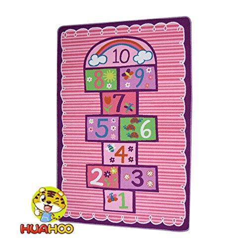 Rayuela Kids alfombra dormitorio rosa niña niños alfombra las niñas dormitorio sala de juegos alfombra de juegos escuela aula aprendizaje educativo alfombra alfombra con base antideslizante