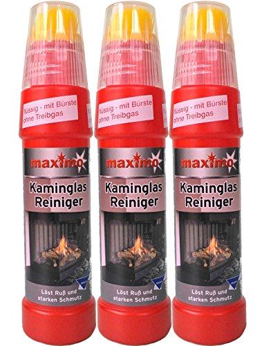 Kaminglas Reiniger, 3 Flaschen á 200ml