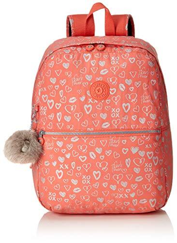 Kipling Emery Mochila Escolar, 42 cm, 22 Liters, Multicolor Hearty Pink Met