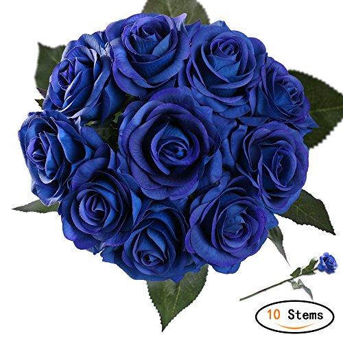 StarLifey Unechte Blumen,Künstliche Deko Blumen Gefälschte Blumen Blumenstrauß Seidenrosen Wirkliches Berührungsgefühlen, Braut Hochzeitsblumenstrauß für Haus Garten Party