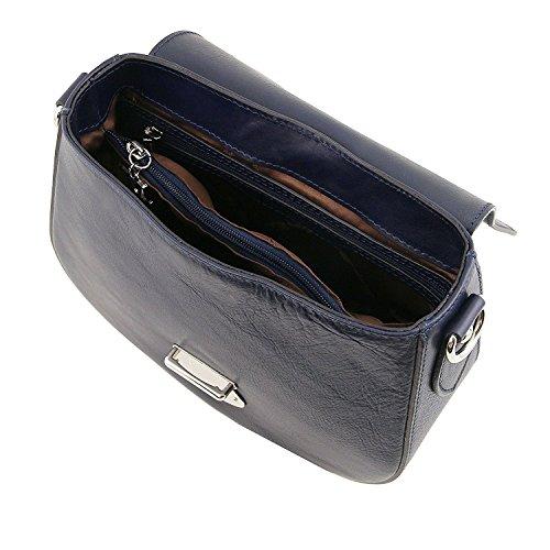 Tuscany Leather TL Neoclassic - Sac bandoulière en cuir - TL141517 (Beige) Blue foncé