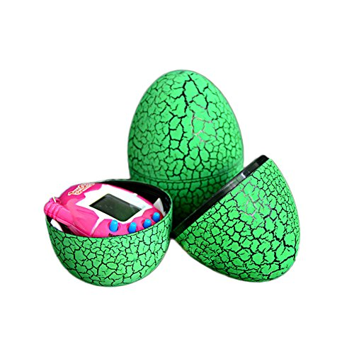 MAJGLGE Tumbler Dinosaur Egg Kids virtuale Cyber Funny Electronic Pets Giocattolo–Rosso Green