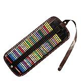 Custodia di tela 36/48/72 buco borsa di tela di colore matita Tendina di matita di colore Cassa di matita di piombo di colore, 72 fori
