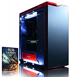 Vibox Titan 11 - 4.4GHz Intel i7, Extreme, High Spec, Water Cooled, Desktop Gaming PC Computer with Windows 10 OS, WarThunder Game Bundle and Internal Lighting Kit PLUS a Lifetime Warranty* (Super Fast Intel Core i7 5930K Haswell Six-Core CPU Processor, Corsair H100i Water Cooler, 4GB Nvidia Geforce GTX 980 Graphics Card, 500GB SSD Solid State Drive, Big 3TB Hard Drive, 16GB Patriot Viper Xtreme 2800Mhz DDR4 RAM, Asus Rampage IV X99 Motherboard, NZXT H440 Red Case)