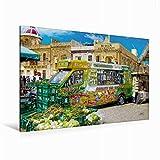 Premium Textil-Leinwand 120 cm x 80 cm quer Der Markt von Marsaxlokk | Wandbild, Bild auf Keilrahmen, Fertigbild auf echter Leinwand, Leinwanddruck (CALVENDO Orte)