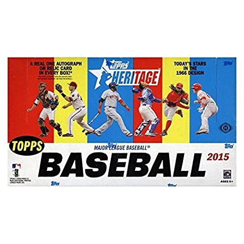 2015 Topps HERITAGE MLB Baseball HOBBY Trading Cards Box - 24 packs of 9 cards each!
