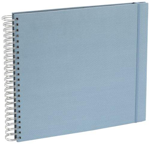 Fotoalbum Spiral-Viel, Leinen, blasses blau + + + 45Blatt Fotokarton für schwarz + + + Fotobuch für Einfügen Fotos + + + Semikolon Qualität