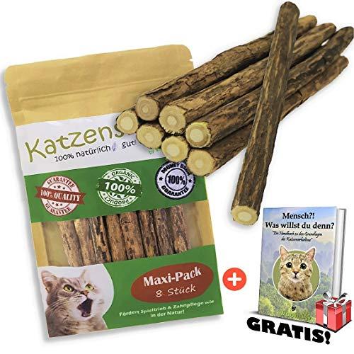 Woofles Katzenminze Katzenspielzeug 8 Sticks + GRATIS E-Book, Unsere Matatabi –...