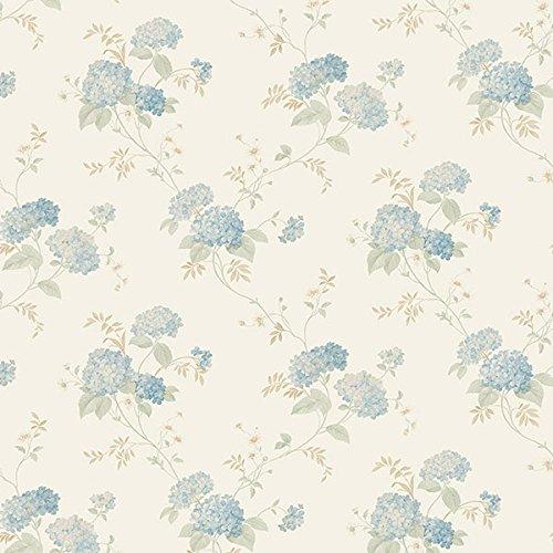 Essener Floral Prints Vinyltapete PR33859 Creme Beige Blau Blumen Landhaus Vintage Floral Blumen-print-tapete