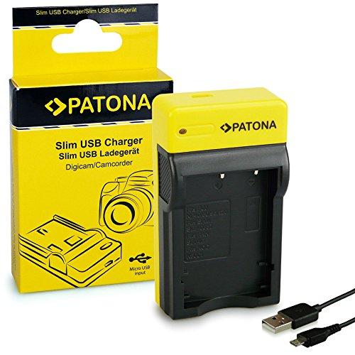 PATONA Slim Ladegerät kompatibel mit Fuji NP-40 / NP-60 / NP-95 / NP-120 / Pentax D-Li8 / Kodak Klic-5001 / Casio NP-30 Batterien - Fuji Np 40