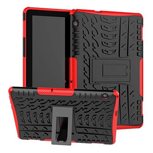 LFDZ Huawei MediaPad T5 2018 Hülle, Schutzhülle mit Hochwertiges PU Leder Tasche Case für 10.0