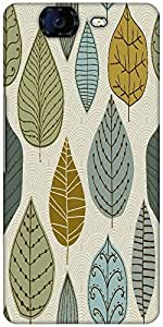 Snoogg Seamless Pattern With Leaf Designer Protective Back Case Cover For Mic...