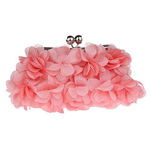 MNBS Damen Abendtasche Clutch Handtasche mit Schleifen süß elegant auffällig in 7 Farben