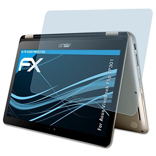 atFolix Schutzfolie kompatibel mit Asus VivoBook Flip TP301 Folie, ultraklare FX Bildschirmschutzfolie (2X)