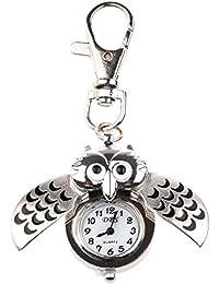Moligh doll Reloj de Bolsillo con Diseno de Buho/Llavero