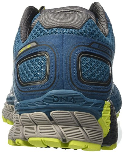 Brooks Herren Adrenaline Asr 13 Traillaufschuhe, Blu/Lime Blau (Moroccan Blue/lime Punch/anthracite)