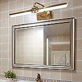 Retro Luce A Specchio A LED Luce del Bagno Luce dell'Armadio Lega Luce per Il Trucco Bagno Toletta Impermeabile Antiappannamento,M