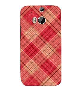 FUSON Christmas Tartan Pattern 3D Hard Polycarbonate Designer Back Case Cover for HTC One M8 :: HTC M8 :: HTC One M8 Eye :: HTC One M8 Dual Sim :: HTC One M8s