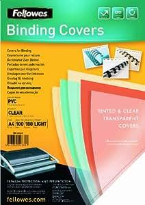 Fellowes 5375901 Couverture pour reliure PVC Transparent