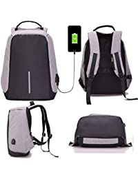 Rich N Royal Anti Theft Waterproof Business Travel Leptop Bag with USB Cable and Built in Charging Port for College and Office Work