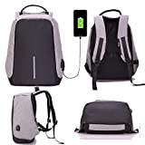 #9: Rich N Royal Anti Theft Waterproof Business Travel Leptop Bag with USB Cable and Built in Charging Port for College and Office Work