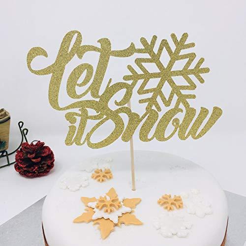 Sie es schneien Cake Topper mit Schneeflocke Winter Wonderland Party Dekoration Winter Onederland Winter unter dem Motto Cake Topper ()