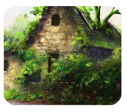 Yanteng Casas Senderos Árboles Hermosa Pintura Arte Personalizado Durable Casa y Oficina Alfombrilla de Ratón