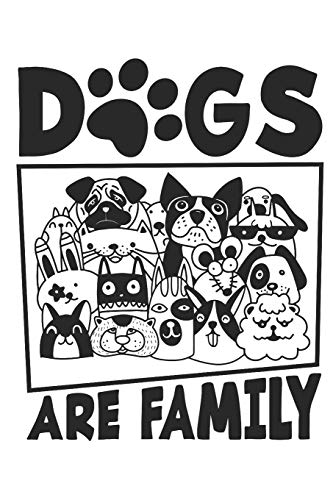 Dogs are Family: Lined A5 (6x9in) notebook for the journal or diary for women and men - Womens Pudel