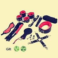 Kits en cuir de 10 PC avec velours doux à l'intérieur rouge et noir