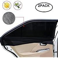 Tospanic Pare-soleil pour fenêtre de voiture,M de voiture Pare-soleil Crème solaire respirant en maille couvertures arrière côté Windows une protection UV maximale pour bébé, enfant, enfants et chien