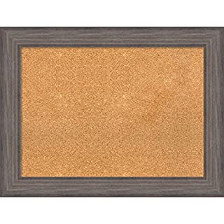 Amanti Art Pinnwand aus Kork, gerahmt, Naturkork, Rahmen aus Naturkork, 84 x 65 cm