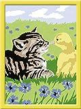 Ravensburger 27976 - Tierische Freundschaft - Malen nach Zahlen, 13 x 18 cm