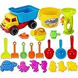 Haunen 21 teiliges Set Strand-Sand-Spielzeug Strandspielzeug mit Schubkarre mit...
