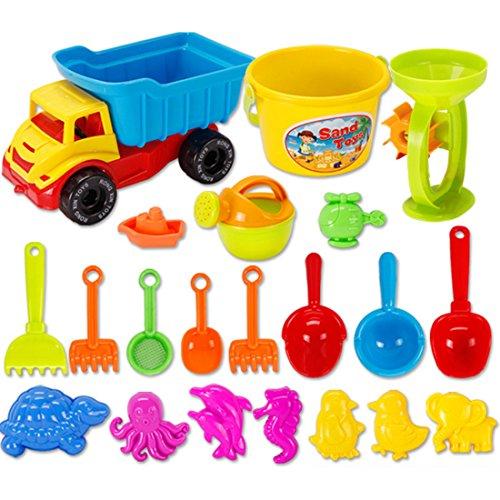 GODNECE 21tlg.Sandspielzeug Schaufel Set Wasser und Sand Spielzeug Set mit Zubehör Strandspielzeug Baby Kinder