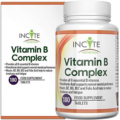 Hochwirksamer Vitamin B Komplex - 180 kleine 6mm Tabletten 100% Geld-zurück-Garantie (6monatiger...