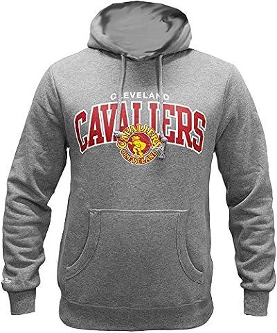 Mitchell & Ness Cleveland Cavaliers Team Arch Hoody Hoodie Sweater Herren Mens