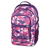 Herlitz 11410297 Schulrucksack be.bag beat, Purple Checked