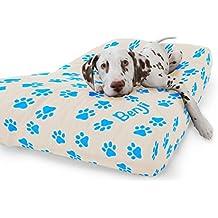 rucomfy Bean bags Cama para Perros de Ante sintético de Lujo, Color Azul bebé,