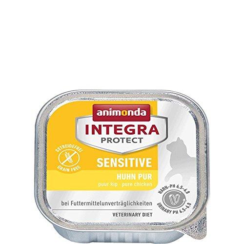 animonda Integra Protect Sensitive Huhn pur | Diät Katzenfutter | Nassfutter bei Futtermittelallergie (16 x 100 g)