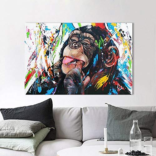 yhyxll Stampa su Tela Pittura a Olio Astratta Linea Colorata Quadri murali per Soggiorno Foto Decorazioni per la casa manifesti e Stampe Senza Cornice 40x60cm