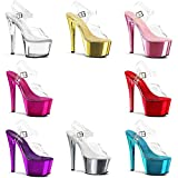 Pleaser Sky308/C/Hpch, Women's Heels Sandals - Pleaser - amazon.co.uk